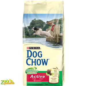 Сухой корм для активных собак Дог Чау Dog Chow Active