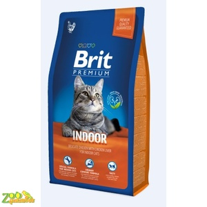Сухой корм для кошек живущих в помещении BRIT PREMIUM Cat Indoor 1.5 кг.